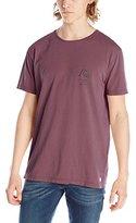 Quiksilver Men's Garment Dyed Short Sleeve Bridge Brand T-Shirt