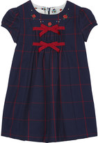 Gucci Bow check cotton dress 6-36 months