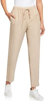 Eileen Fisher Petite Drawstring Waist Tapered Ankle Pants