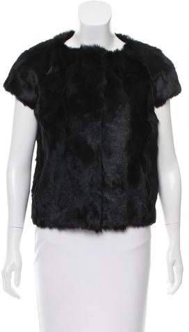 Pologeorgis Cap Sleeve Fur Jacket