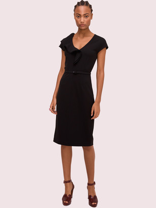 Kate Spade Ruffle Matte Crepe Dress