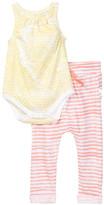 Burt's Bees Baby Burt&s Bees Baby Organic Honeycomb Sleeveless Bodysuit & Pant Set (Baby Girls)