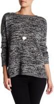 Sofia Cashmere Marl Neck Long Sleeve Cashmere Sweater