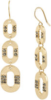 Kenneth Cole NEW YORK Gold-Tone Drop Pendant Earrings with Crystal Accents