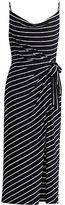 Ralph Lauren Striped Tie-Front Maxidress