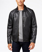 Kenneth Cole Men's Smooth Faux-Leather Hipster Jacket