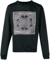 Versus printed patch sweatshirt - men - Polyester/Spandex/Elastane/Viscose - L