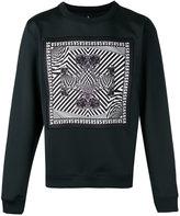 Versus printed patch sweatshirt - men - Polyester/Spandex/Elastane/Viscose - S