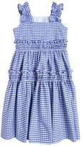 Simonetta Cotton Gingham Long Dress