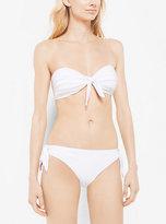Michael Kors Tie-Front Bandeau Bikini