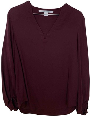 Diane von Furstenberg Burgundy Top for Women
