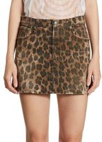 R 13 Leopard-Print Mini Skirt