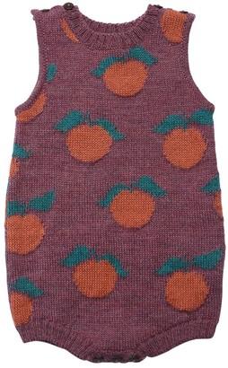 Oeuf Orange Baby Alpaca Knit Bodysuit