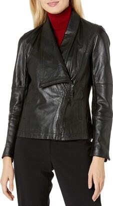 Anne Klein Women's Asymmetrical Zip Jacket
