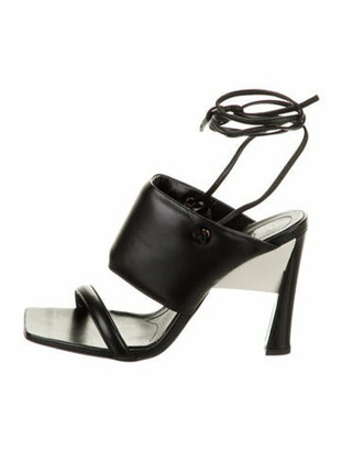 Marni Leather Ankle-Strap Sandals w/ Tags Black