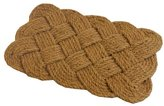JVL Natural Hand Made Knotted Rope Coir Door Mat - 45 x 75 cm
