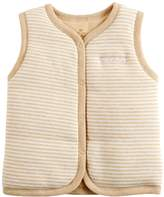 Monvecle Baby Organic Cotton Warm Vests Unisex Infant to Toddler Light Padded Waistcoat 9-12m