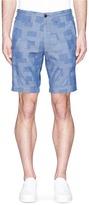 Alex Mill Patchwork cotton dobby shorts