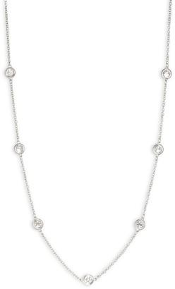 Effy 14K White Gold & Diamond Station Necklace
