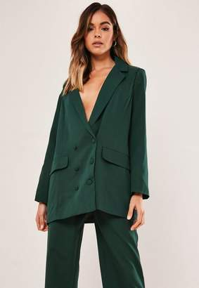 Missguided Petite Green Co Ord Oversized Masculine Blazer