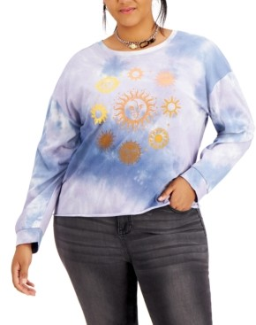 Rebellious One Trendy Plus Size Cotton Tie-Dyed T-Shirt