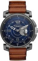 Diesel On DZT1003 Blue Dial Tan Strap Smart Watch