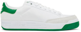 adidas White and Green Rod Laver Sneakers