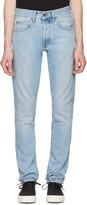 Off-White Blue Slim Spray Diagonal Jeans