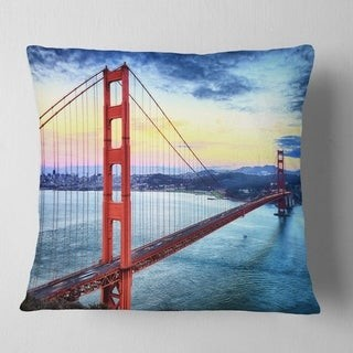 Design Art Designart Golden Gate Bridge In San Francisco Sea Bridge Throw Pillow Shopstyle