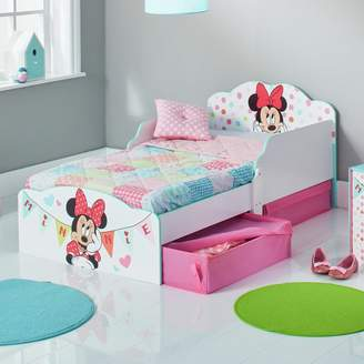 Disney Minnie Mouse Toddler Bed, Drawers & Kids Mattress