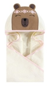Hudson Baby Unisex Baby Animal Face Hooded Towel, Boho Bear 1-Pack, One Size