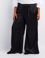 Charlotte Russe Plus Size Tie-Front Palazzo Pants