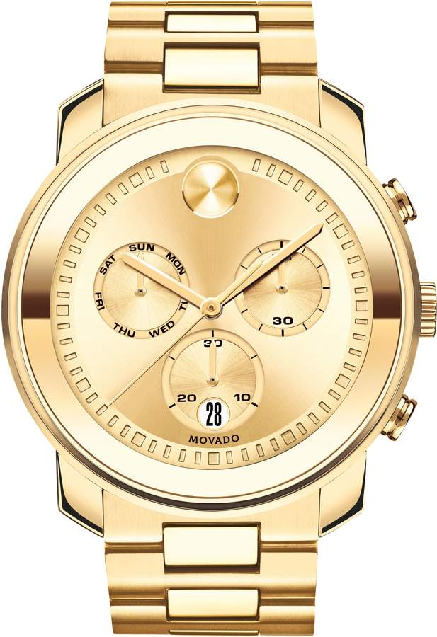 Movado Bold Metals Chronograph Bracelet Watch, 47mm