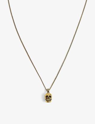 Alexander McQueen Skull-embellished metal choker necklace
