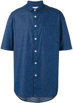 Sunnei oversized chambray short sleeve shirt - men - Cotton - S