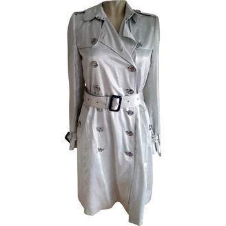Burberry Silver Synthetic Trench coats