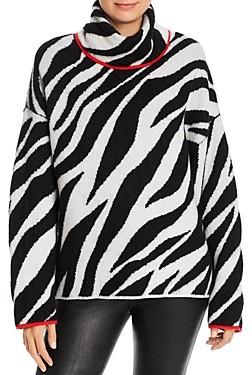 Rag & Bone Kiki Zebra Wool-Blend Turtleneck Sweater