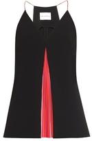 Mary Katrantzou Acer rainbow-pleats top