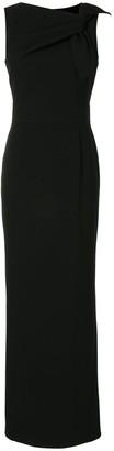 Paule Ka Draped Detail Evening Dress