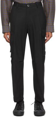 Solid Homme Black Wool Cargo Pants