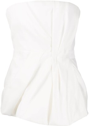 DSQUARED2 A-line strapless draped top