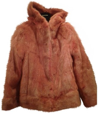 Valentino Garavani Orange Mink Leather jackets