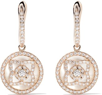 De Beers 18kt rose gold Enchanted Lotus mother-of-pearl and diamond sleeper earrings
