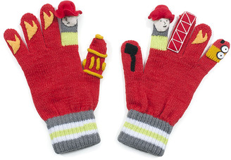Kidorable Boys' Casual Gloves RED - Red Firefighter Gloves - Toddler