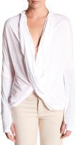 Michael Stars Draped Open Front Cardigan
