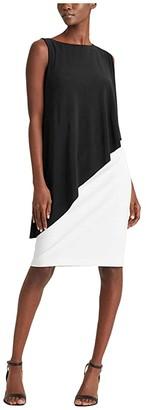 Lauren Ralph Lauren Erlina Dress (Black/Lauren White) Women's Dress