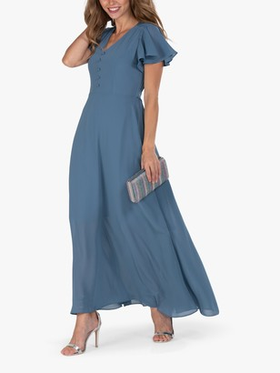 Jolie Moi Cross Flare Sleeve Maxi Dress, Dark Stomy