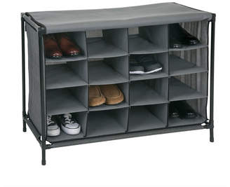 Simplify 16 Compartment Shoe Cubby in Black