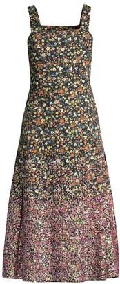 Tory Burch Sequin Floral Cotton Dress
