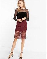 Express Crocheted Pencil Skirt